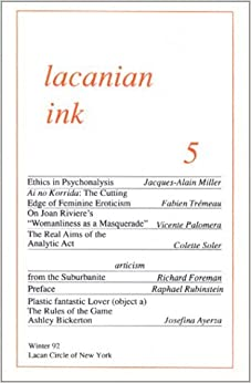 Lacanian Ink 5 by Jacques-Alain Miller (1992-01-20)