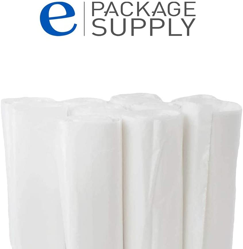 60 Gallon Heavy Duty Garbage Bags - Large Contractor Trash Can Liners - White .7 Mil Thick - 100 Bags Bulk