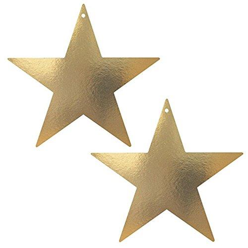 Room Foil (Elegant Mini Star Cutouts Party Room Wall Decoration, Gold, Foil, 3 (2 Pack))