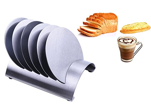 Round Style Stainless Steel Coasters Set Bowls Mat Placemats With Holder