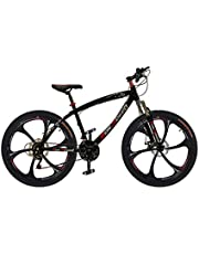 New Speed 26 Inches Road Bike, Freeride Bike,Saiguan shifter,21 Speeds Gears Bike, Adjustable Seat with Dual Disc Brakes, Front Shock Absorber and Pedals for Men and Women.