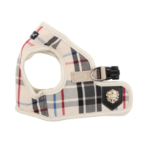 Designer Dog Harness - Puppia Authentic Junior Harness B, Medium, Beige