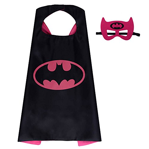 Halloween Costume Superhero Dress Up For Kids - Best For Christmas Gift, Children's Birthday, Cosplay Party. Satin Cape and Felt Mask Role Play Set. Cartoon Outfit For Boys and Girls (Halloween Costume Ideas For School)