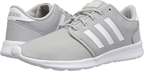 Adidas Neo Women's CF QT Racer W, Grey One/White/Grey Two, 7 M US