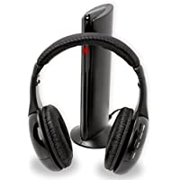6-In-1 Wireless Headphones For TV Laptop MP3 Players - Built In Microphone For Internet Chat