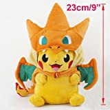 Sincerity Forever Pokemon Plush Pikachu Smile Charizard Doll Stuffed Animals Figure Soft Anime Collection Toy