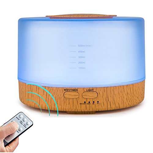 remote-control-essential-oil-diffuser-500ml-ultrasonic-aroma-cool-mist-humidifier-with-7-color-light