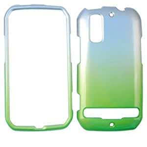ACCESSORY HARD GLOSSY CASE COVER FOR MOTOROLA PHOTON 4G / ELECTRIFY MB855 TWO TONES SILVER GREEN