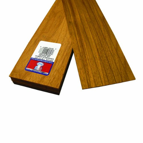Midwest Products 4577 Scale Lumber Mahogany Flooring, 24x3x0.0625 Inches, 0.375 Spacing