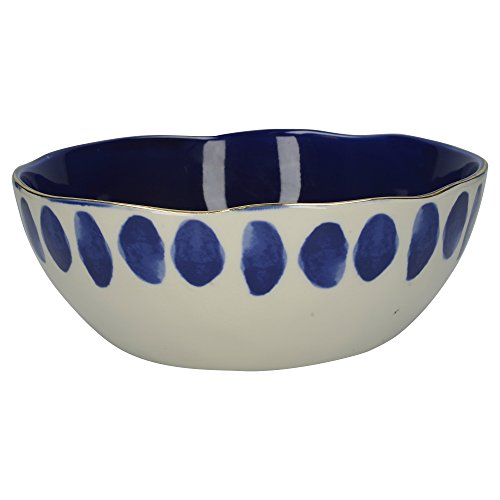 Mikasa Azores Stoneware Patterned Salad/Pasta Serving Bowl, 26 cm (10