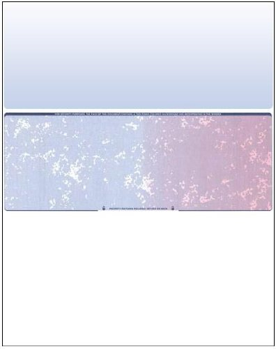 Business Voucher Check Stock - Versacheck Refills - 2500 Sheets, Check in Middle, Blue/Red - Middle Business Check