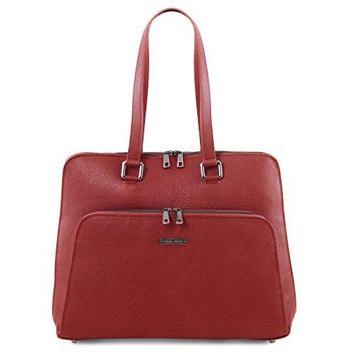 Tuscany Leather Lucca Borsa business TL SMART in pelle morbida per donna Rosso Rosso