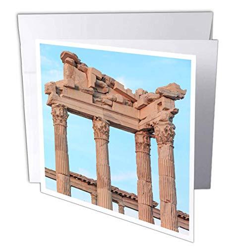 (3dRose Danita Delimont - Turkey - Turkey, Izmir Province, Pergamon. Temple of Trajan on The Acropolis - 1 Greeting Card with Envelope (gc_312876_5))