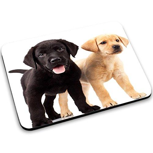 Hunde 10010, Labrador, Designer Mousepad Unterlage Mauspad Maus-Pad Stark Anti Rutsch Unterseite für Optimalen Halt mit Lebhaftes Motiv Kompatibel mit Apple Magic Maus. Ideal für Gamer und für Grafikdesigner
