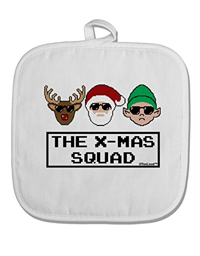 TooLoud The X-mas Squad Text White Fabric Pot Holder
