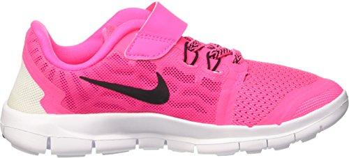 Nike  Free 5 (Psv),  Mädchen Turnschuhe Pink (Pink pow/Black/Vivid Pink/White 600)