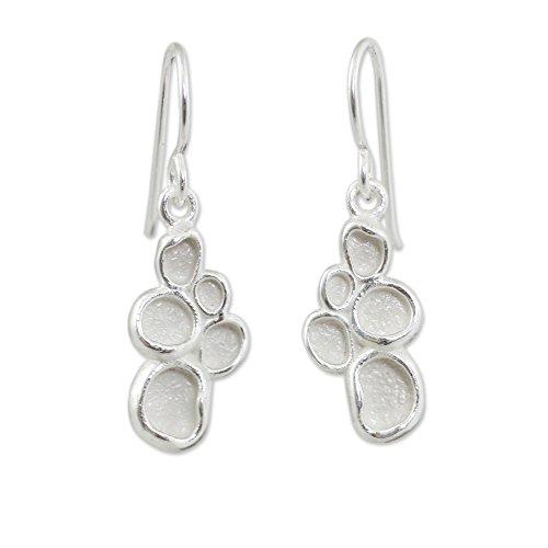Global Nice Pod (NOVICA .925 Sterling Silver Dangle Earrings 'Seed Pod'')