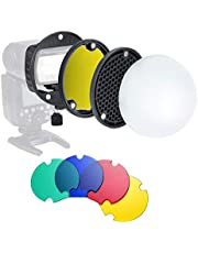 TRIOPO MagDome Color Filter Reflector Honeycomb Diffuser Ball Photo Accessories Kits for GODOX YONGNUO Flash Replace AK-R1 S-R1,Compatibility for Godox YONGNUO TRIOPO etc. Square Flash