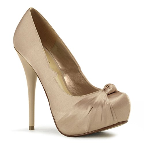 Pleaser Day & Night - Gorgeous-28 - Sexy edle High Heels Satin Plateau Pumps 35-41