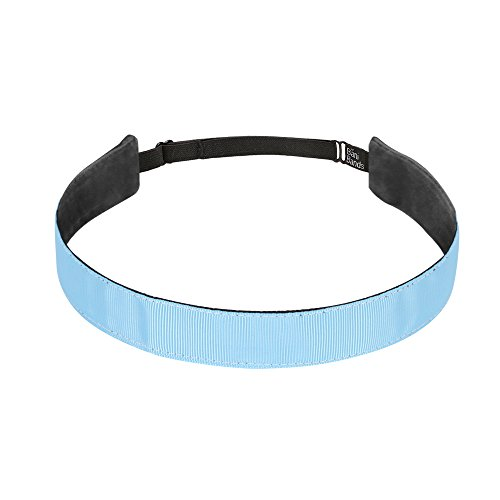 (BaniBands Headbands for Women - Non Slip Adjustable Sports Head Bands - Made in USA - Perfect Headband for Active Women Stays in Place During Workout, Running, Yoga and More - Light Carolina Blue)