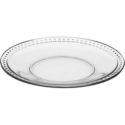 Anchor Hocking Isabella Set of 6 Glass Side Salad Plates /& Glass Dinner Plates