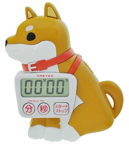 "Doggie timer ""Koro"" Brown Shiba dog T-503BR"