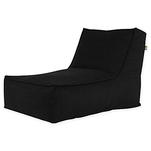 Studio Lounger in Black Linen, suitable for anyone in the family. Upholstered in linen-like fabric for a stylish look, it is durable, comfortable, and supportive, Measures 42'' D x 28'' W x 30'' H by Generic