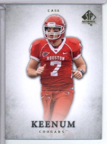 2012 Upper Deck SP Authentic # 18 Case Keenum RC - Houston Cougars (RC - Rookie Card) NFL Football Trading Card