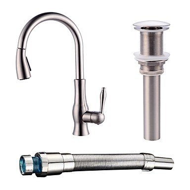 Centerset Ceramic Valve Nickel Brushed Kitchen faucet by ZHENG