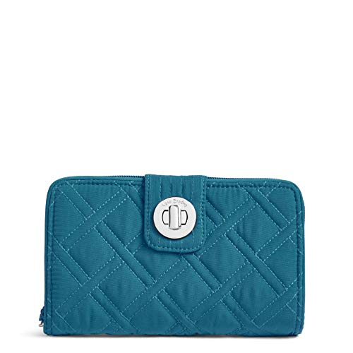 Vera Bradley Women's Rfid Turnlock Wallet, bahama bay, One Size
