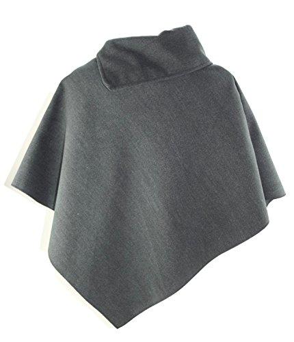 citydress24 - Poncho - para mujer gris oscuro