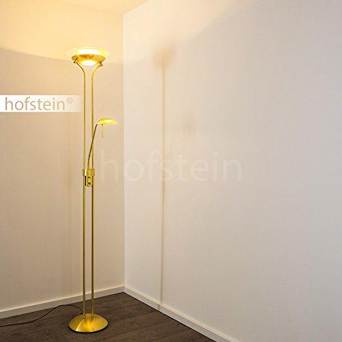 Lampadaire sur pied SALTUM en métal de couleur laiton Lampe sur
