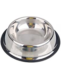Take 1/2 Quart Anti-Skid Stainless Steel Pet Bowl for Puppy Dog Cat Food Water (16 oz save