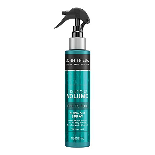 John Frieda Luxurious Volume Fine to Full Blow Out Spray for Fine Hair, 4 Ounce ()