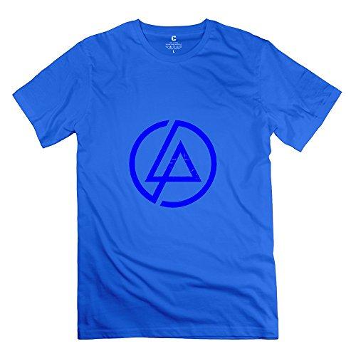 Make Your Own Men's Tshirts Fashion Linkin Park Rock Band Music Size L RoyalBlue
