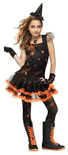 Sparkle Star Witch Kids (Orange Tutu Witch Child Costumes)