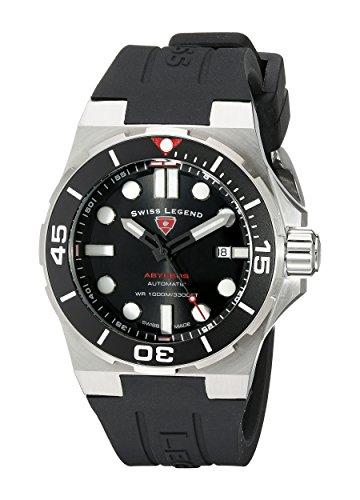 Swiss Legend Men's 10062A-01-SM-RDB Abyssos Analog Display Swiss Quartz Black Watch