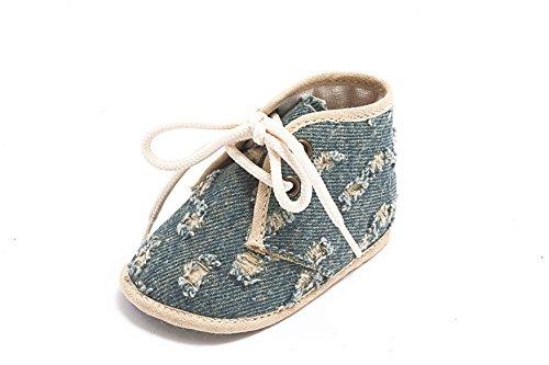 ABA , Baby Mädchen Krabbelschuhe & Puschen blau Blu jeans
