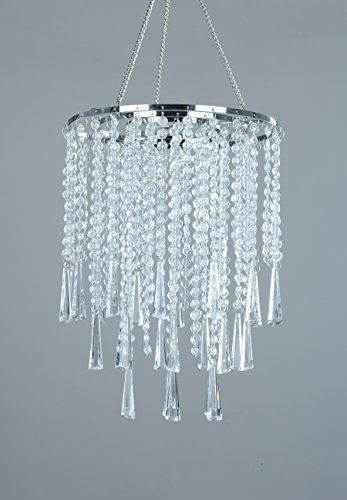 FlavorThings 3 Tiers Clear Acrylic Beaded Hanging Chandelier,Great idea for Wedding Chandeliers Centerpieces Decorations and any Event Party Home Decor by FlavorThings