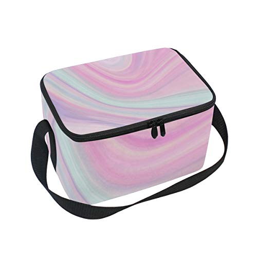 Aurora Marble Pattern Adult Lunch Box Lunch Insulated Bag Large Cooler Tote Bag for Men And Women Large Soft Cooler Insulated Picnic Bag