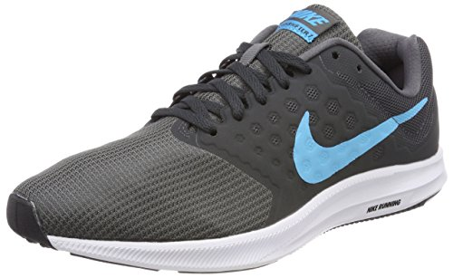 Nike Men's Downshifter 7 Gry/Blu-Anth-Blk Running Shoes-7...