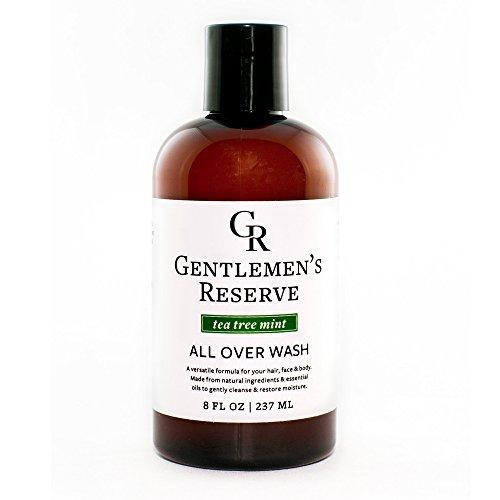 Men's Natural & Organic Tea Tree Mint Wash 2 in 1 - Body Wash + Face Wash - All Natural & Organic - Good for Normal, Dry Skin or Sensitive Skin (Tea Tree Oil & Peppermint) (8 oz)