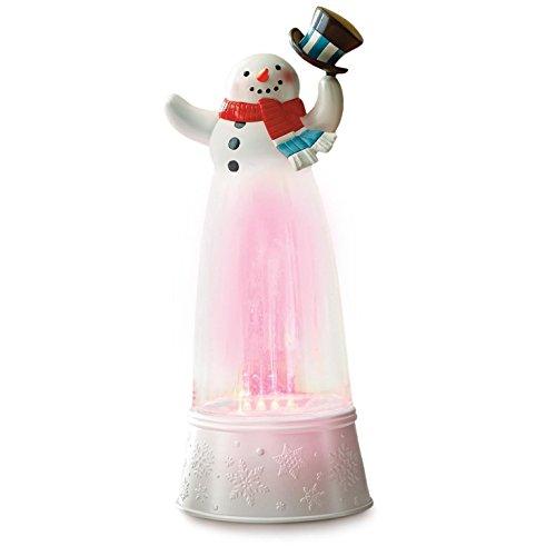 Hallmark Festive Fountain Top Hat Snowman Musical Snow (Musical Snowman Snowglobe)