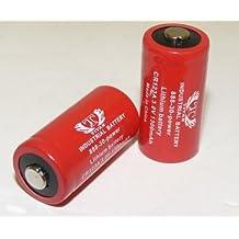 2 pcs CR123A CR-123A SF123A 3 Volt Lithium Battery for Surefire Fenix Flashlight