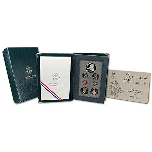 1995 US Mint Prestige Proof Set 7 Coins Including Civil War Commemorative (Us Mint Prestige Proof Coin)