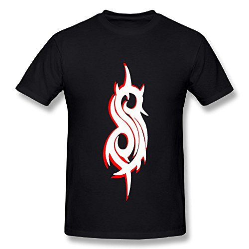 T-shirt Slipknot Logo Men's Round Neck Fashion Casual Graphic Short Sleeve Tees Tops Black 3X -