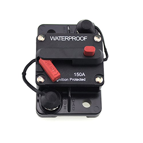 Waterproof T Tocas 30 Amp Surface-Mount Circuit Breakers with Manual Reset 12V- 48V DC 30A