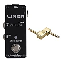 "AROMA ALR-3 Liner Aby Line Selector Guitar Effect Pedal with 1/4"" Plug Zinc Alloy Connector"