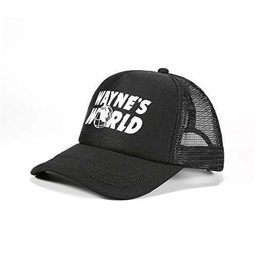 wondeful Adjustable Wayne's World Baseball Cap Hat Mesh Cap Outdoor Sports hat Black