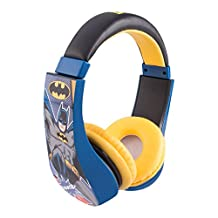 Batman Kid Safe Over the Ear Headphone w/ Volume Limiter, Colors May Vary (30382)